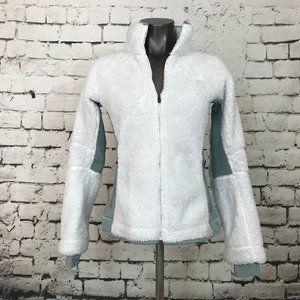 Columbia Jacket High Pile Fleece Thumbholes White